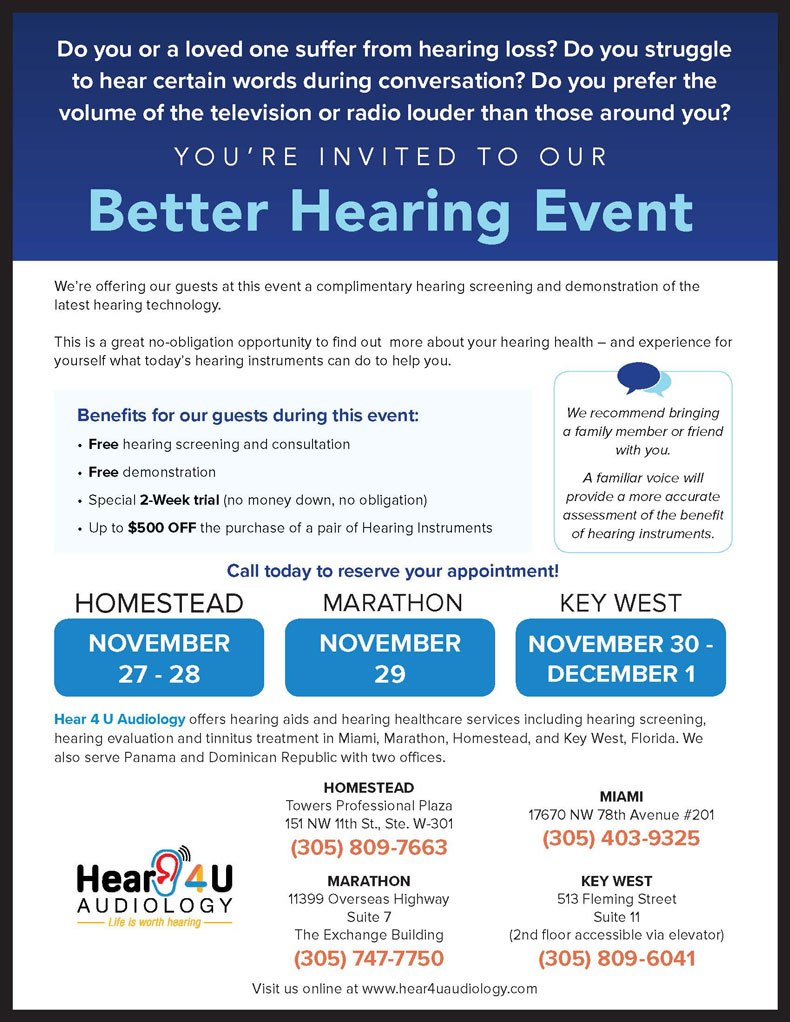 Special Hearing Events | Hear 4 U Audiology